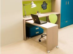 Wooden writing desk with drawers 7006 - dearkids