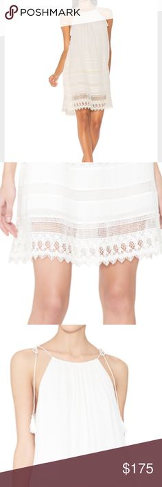 Alice + Olivia Danna Dress Wore to dinner on vacation and that's it. Beautiful light and summery with lace detail. Alice & Olivia Dresses Mini