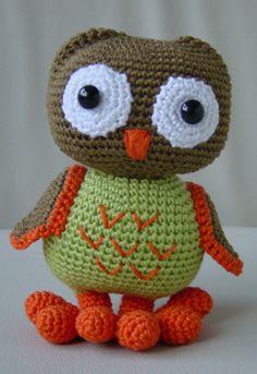 Crochet Pattern: Mama & Baby Owl by Sanda J. Dobrosavljev