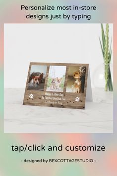 Pet Breeds, Happy Fathers Day, Store Design, Best Dogs, Holiday Cards, Custom Design, Dads, Place Card Holders, Seasons
