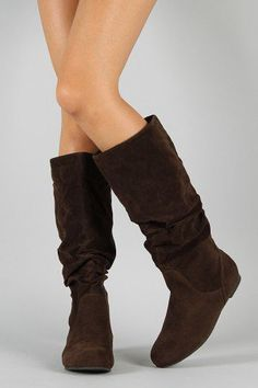 cc3df254f24f Slouchy Round Toe Flat Knee High Boot. Tami Suprun Brock · Boots