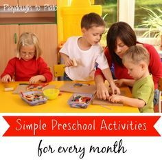 Free printables. Simple preschool activities for every month of the year. {Playdough To Plato}