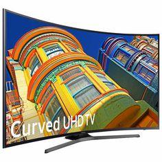"Samsung 55"" Class (54.6"" Diag.) Curved 4K Ultra HD Smart TV UN55KU650DFXZA #Samsung"