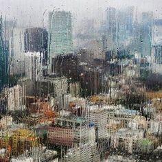 Rain creating a distorted world