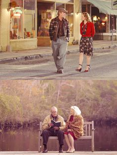Before and after...<3 Notebook on a movie channel, wahoo!!