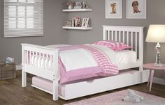Bunk Bed Trundle in White