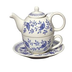 Williamsburg Blue Bloom Tea For One Teapot