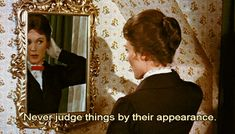 """Julie Andrews' hair was a wig. 