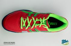 Asics Gel Padel Pro 2 Rojas 2014, versión otoño, #asics #padel #zapatillas