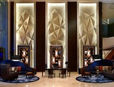 Here are some of the best hotel lobby ideas in different styles for you to get inspired and to choose the best one. #hotel #lobby #design #ideas | see more inspiring images at www.delightfull.eu Design Hotel, Hotel Lounge, Hotel Reception, Elderly Home, Hotel Interiors, Hospitality Design, Wall Treatments, Retail Design, Interior Design Inspiration