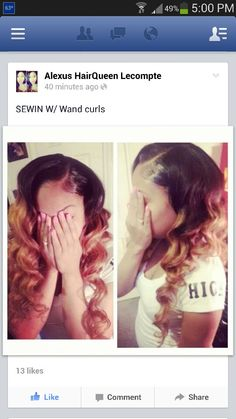 Sew in ombred