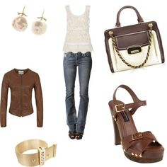 Beautiful Brown, created by leah-strid on Polyvore