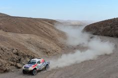 Szymon Ruta and co-pilot Laurent Lichtleuchter of team Toyota compete in stage 5 from Arequipa to Arica during the 2013 Dakar Rally on January 9, 2013 in Arequipa, Peru.