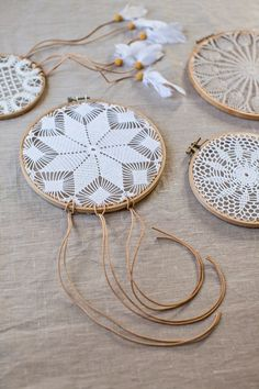 Atrapasueños DIY decorar reciclando tapetes de ganchillo 6