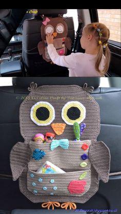 Crochet Car Organizer - Michelle {CraftyMorning.com -  -