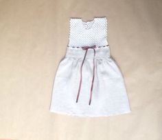 Baby dress linen baby dress wedding baby dress