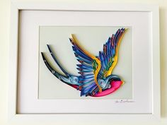 """24 Likes, 3 Comments - Carrie Birch (@tambellaarts) on Instagram: """"""""Swooping Swallow"""" #birds #twitching #twitchlife #quilling #quillingart #homedecor #homedecoration…"""""""