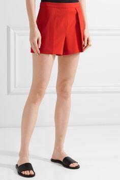 Alice Olivia - Larissa Draped Crepe Shorts - Red - US10