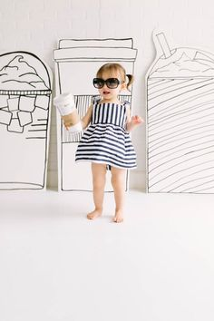 Coffee, Kids Commercial Photographer, Kids Fashion Photographer, Children Fashion Custom made Coffee wood cut outs just for our clients online images, After posting these, they sold out of this 2 piece outfit in an hour!