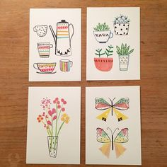 Some ideas for some mini prints #illustration #artprints