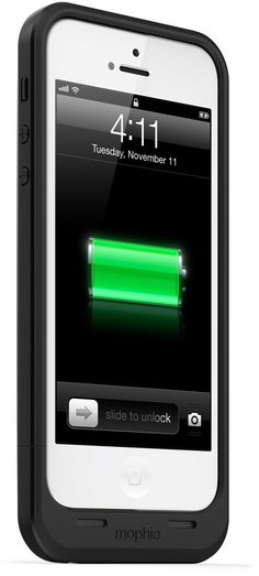 So cool! It's a case and back-up battery in one. mophie Juice Pack Air Case - iPhone 5