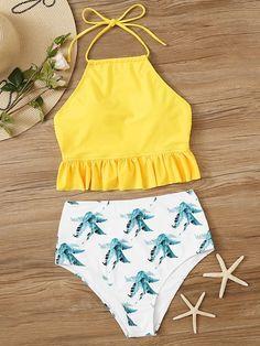 2020 Women Swimsuits Bikini Baby Blue Bikini Two Piece Thong Bathing Suits Beach Swimsuit Plus Swim Bathing Suits For Teens, Summer Bathing Suits, Swimsuits For Teens, Cute Bathing Suits, Women Swimsuits, Baby Bathing, Modlily Swimwear, Luxury Swimwear, Swimwear Fashion