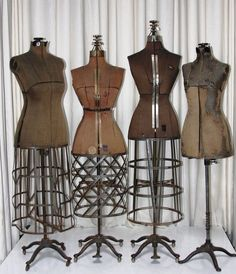 PGM custom made Antique Vintage style dress forms, also has many different kind vintage dress form collection. If you interest, call PGM Industry Grade double function Dress Forms for fashion design draping, fashion education Vintage Outfits, Vintage Style Dresses, Vintage Fashion, Vintage Dress Forms, Dress Form Mannequin, Vintage Mannequin, Vintage Mode, Look Vintage, Home Decor