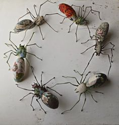 Embroidered spiders - Mister Finch