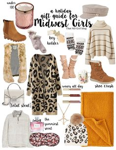 "This gift guide is supposedly for the ""midwest"" girl. But, I wouldn't dwell too much about it. It's more like a dedication to my fellow midwest lady. Christmas Gift Guide, Christmas Gifts For Women, Gifts For Teens, Gifts For Family, Holiday Gifts, Gifts For Her, Amazon Buy, Amazon Gifts, Midwest Girls"