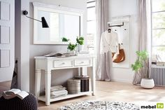 : Reduced wall wardrobes & hanging wardrobes Cloakroom panel Moorhusen ¦ white ¦ Dimensions (cm): W: 59 H: 145 D: 30 cloakrooms & clothes rail amp hanging homedecorart homedecorhallway reduced wall wardrobes westernhomedecor Console Table, Hanging Wardrobe, Foyer Staircase, Tableau Design, Clothes Rail, Vestibule, Parasol, Little Houses, Opi