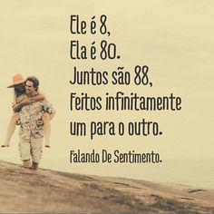 Achei lindo! #regram @falandosentimento #frases #amor #relacionamento #infinito