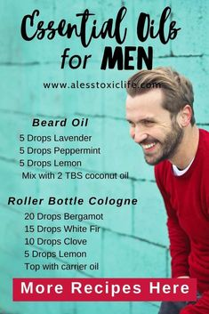 Beard oil and cologne are easy to make with essential oils. These recipes men will love. Manly essential oil scents that everyone will love. Bergamot, white fir, clove, lemon smell great together. Easy DIY using essential oils Essential Oil For Men, Essential Oil Scents, Doterra Essential Oils, Young Living Essential Oils, White Fir Essential Oil, Essential Oil Recipies, Yl Oils, Aromatherapy Oils, Diy Beard Oil