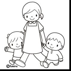 Arquivo de álbuns Family Coloring Pages, Colouring Pages, Coloring Pages For Kids, Coloring Books, Coloring Sheets, Easy Drawings For Kids, Drawing For Kids, Cartoon Familie, Word Drawings