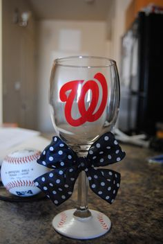 Washington Nationals   http://www.etsy.com/listing/95442678/washington-nationals-wine-glass
