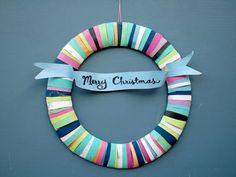 paper bag wreath craft