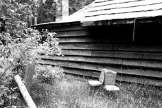 Cabin. Provo Canyon Utah. Black and white. High Contrast. Photo by Harvey Brand Imagery