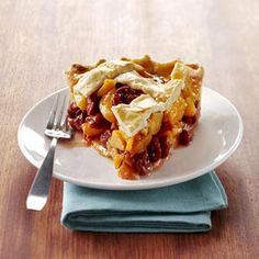 Stone Fruit Pie Recipe -You can use any type of stone fruit in this pie. I love combining white peaches with sour cherries! Nectarine Recipes, Fruit Recipes, Pie Recipes, Sweet Recipes, Cooking Recipes, Cherry Recipes, Dessert Recipes, Mini Fruit Pizzas, Desert Recipes