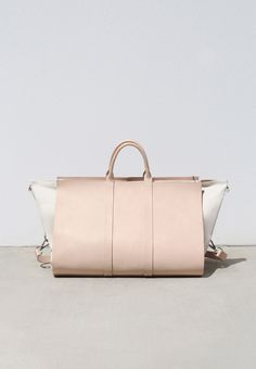 Chic canvas & leather bag; contemporary classic accessories // Building Block