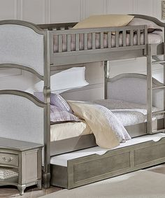 Love this Antique Silver Kensington Victoria Twin Over Twin Trundle Bunk Bed on #zulily! #zulilyfinds