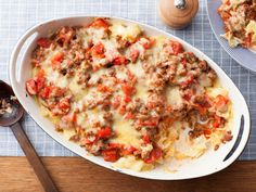 Beef and Cheddar Casserole recipe from Food Network Kitchen via Food Network