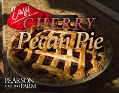 Make Pearson Farm's Easy Cherry Pecan Pie recipe for a simple, delicious, southern dessert without all the hassle. Pecan Recipes, Pie Recipes, Georgia Pecans, Southern Desserts, Tin Gifts, Cherry, Peach, Simple, Food
