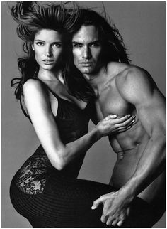 Marcus Schenkenberg - Few could steal attention away from Cindy Crawford and Stephanie Seymour, but Schenkenberg managed it in Richard Avedon's famous ads for Versace. Known for his impressive physique and flowing hair, Schenkenberg now splits his time between modeling and his fitness empire.