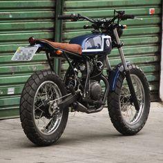 Yamaha streettracker 125cc handmade metalshaping motorcycle