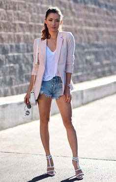Jean shorts outfit with strappy sandals jean short outfits, casual outfits, fashion outfits, Jessica Ricks, Jean Short Outfits, Casual Outfits, Outfits With Jean Shorts, Looks Con Shorts, Mode Shorts, Denim Shorts, Ripped Denim, T Shirt Branca