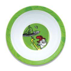 Dr Seuss Melamine Bowl Green Eggs New by Bumkins   eBay