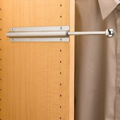 Features:  -Rod and mounting hardware.  -Removable knob can replaced with your own custom knob.  -Material: Metal.  Product Type: -Garment Rack.  Intended Use: -Clothing.  Primary Material: -Metal.  R