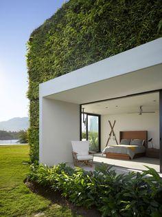 #GreenWall #ModernBedroom #Architecture