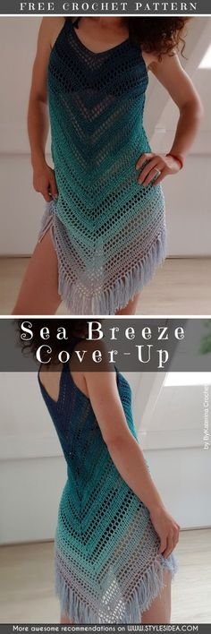 Summer Cover Up Free Crochet Patterns #crochet #pattern #cover-up #summer #freepattern
