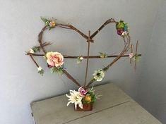 Woodland Twig Heart Sculpture Rustic Wedding Heart Wreath