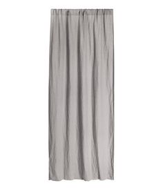 Washed Linen Curtain Panel | Gray | Home | H&M US